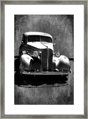 Vintage Car Art 0443 Bw Framed Print