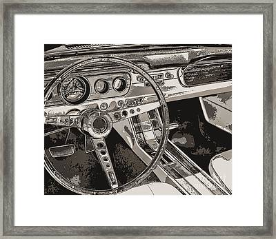 Vintage Car Dashboard Framed Print
