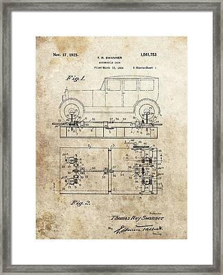 Vintage Car Jack Patent  Framed Print by Dan Sproul