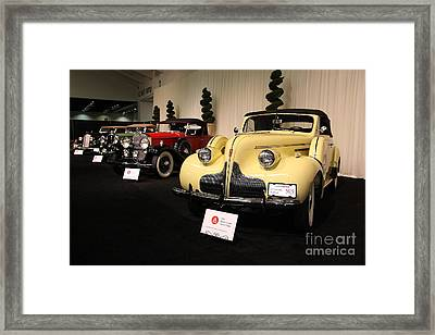 Vintage Car Row Framed Print by Wingsdomain Art and Photography