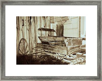 Vintage Carriage Framed Print by Ray Shrewsberry