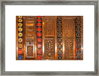 Vintage Cash Register Framed Print by Wingsdomain Art and Photography