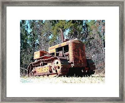 Vintage Caterpillar Framed Print