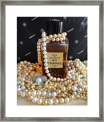 Vintage Chanel No 5  Framed Print by To-Tam Gerwe