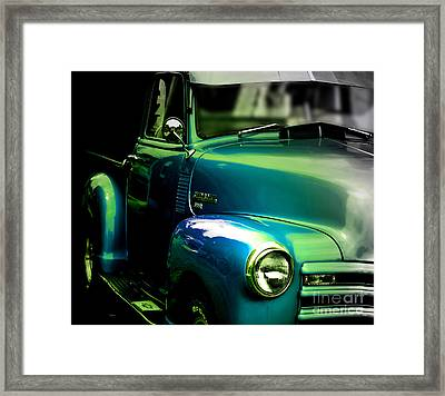 Vintage Chevy 3100 Pickup Truck Side View Framed Print