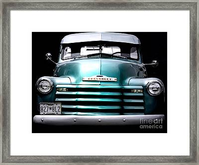 Vintage Chevy 3100 Pickup Truck Framed Print