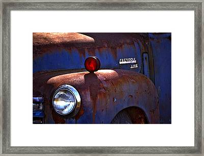 Vintage Chevy 4400 Happily Retired Framed Print