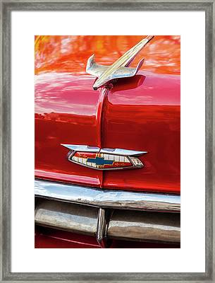 Framed Print featuring the photograph Vintage Chevy Hood Ornament Havana Cuba by Charles Harden