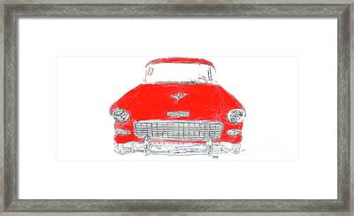 Vintage Chevy Painting Mug Framed Print by Edward Fielding