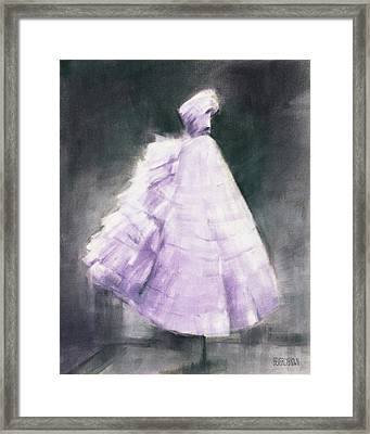 Vintage Chic Lavender And Gray Framed Print