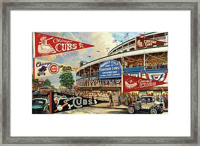 Vintage Chicago Cubs Framed Print