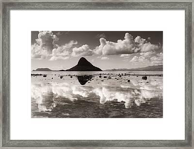 Mokolii Reflections Framed Print by Sean Davey