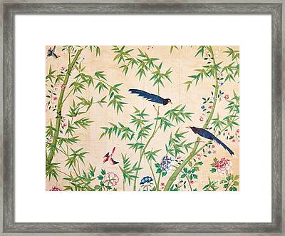Vintage Chinese Wallpaper Design Framed Print
