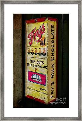 Vintage Chocolate Vending Framed Print by Adrian Evans