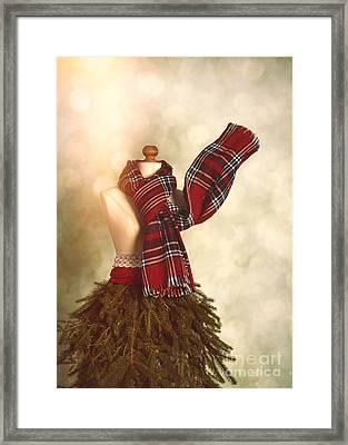Vintage Christmas Framed Print by Amanda Elwell