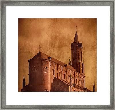 Vintage Church Framed Print by Wim Lanclus