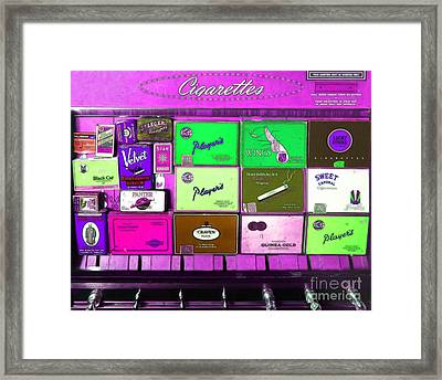 Vintage Cigarette Dispenser 20150830 M88 Framed Print by Wingsdomain Art and Photography