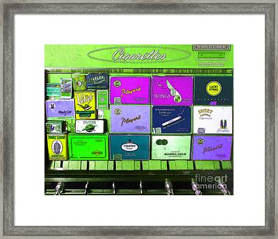 Vintage Cigarette Dispenser 20150830 P68 Framed Print by Wingsdomain Art and Photography