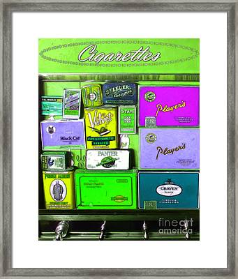 Vintage Cigarette Dispenser 20150830 Vertical P68 Framed Print by Wingsdomain Art and Photography