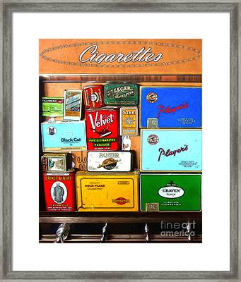 Vintage Cigarette Dispenser 20150830 Vertical Framed Print by Wingsdomain Art and Photography