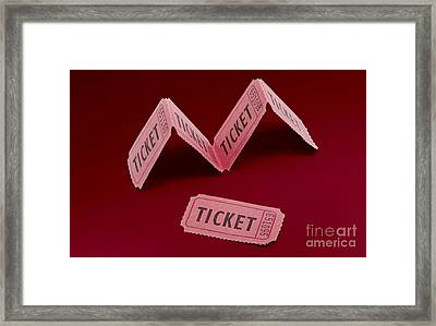 Vintage Cinema Movie Ticket Framed Print