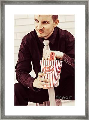 Vintage Cinema Patron Framed Print