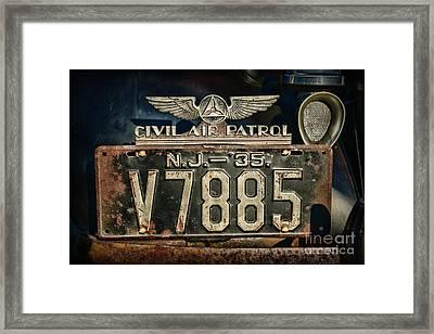 Vintage Civil Air Patrol Badge Framed Print