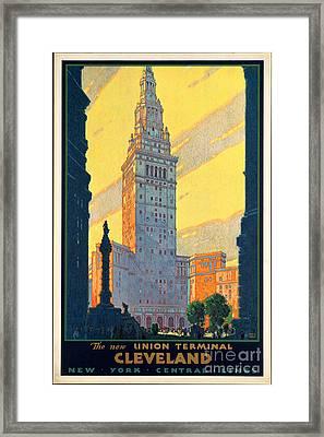 Vintage Cleveland Travel Poster Framed Print