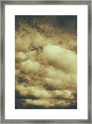 Vintage Cloudy Sky. Old Day Background Framed Print by Jorgo Photography - Wall Art Gallery