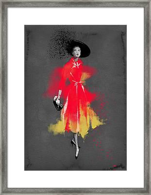Vintage Coat Dress - By Diana Van Framed Print by Diana Van