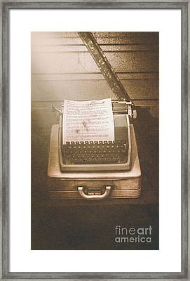 Vintage Code Breaking Enigma Machine  Framed Print by Jorgo Photography - Wall Art Gallery