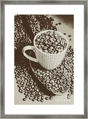 Vintage Coffee Art. Stimulant Framed Print