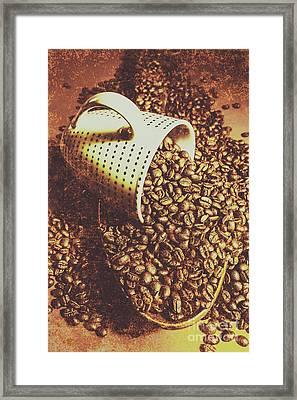 Vintage Coffee Shop Scene Framed Print