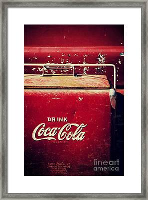 Vintage Coke Cooler Framed Print by Tim Gainey