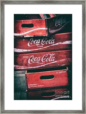 Vintage Coke Crates Framed Print by Tim Gainey