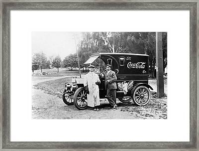 Vintage Coke Delivery Truck Framed Print