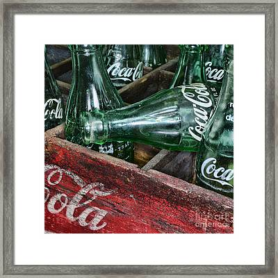 Vintage Coke Square Format Framed Print by Paul Ward