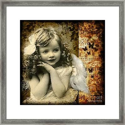 Vintage Collage 22 Framed Print by Angelina Cornidez