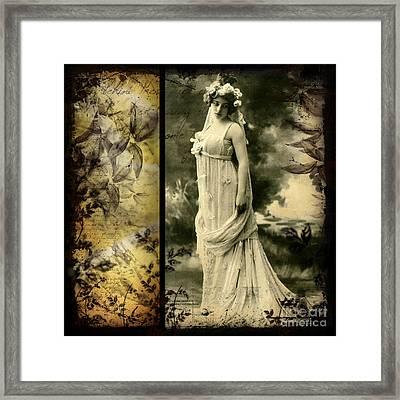 Vintage Collage 24 Framed Print by Angelina Cornidez