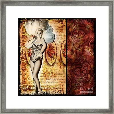 Vintage Collage 5 Framed Print by Angelina Cornidez