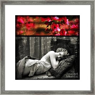 Vintage Collage 7 Framed Print by Angelina Cornidez