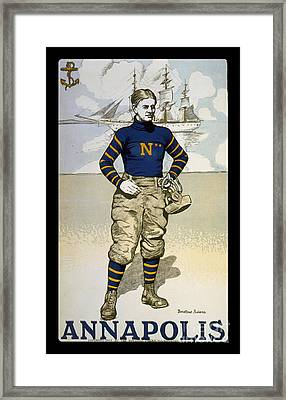 Vintage College Football Annapolis Framed Print by Pd