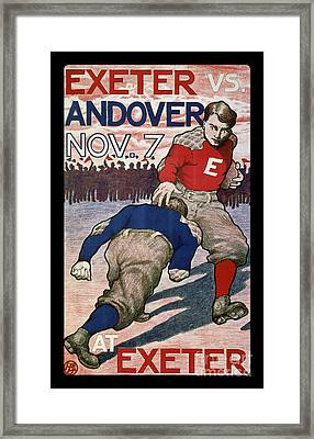 Vintage College Football Exeter Andover Framed Print by Edward Fielding
