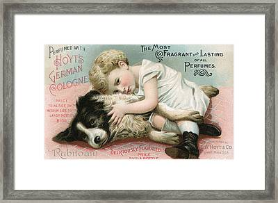 Vintage Cologne Advertisement Framed Print by Unknown