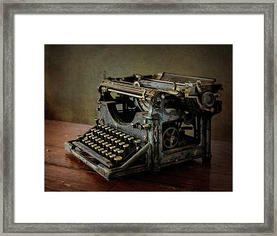 Vintage Communication Framed Print by David and Carol Kelly