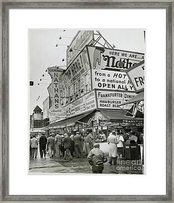 Vintage Coney Island Framed Print
