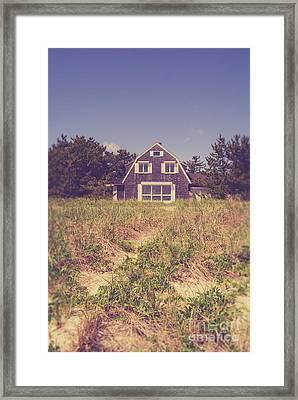 Vintage Cottage Cape Cod Framed Print by Edward Fielding