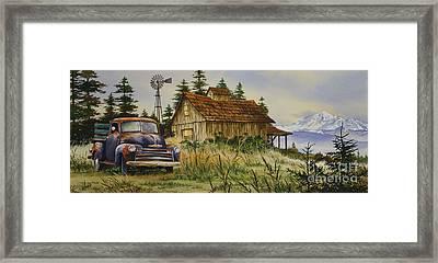 Vintage Country Landscape Framed Print by James Williamson