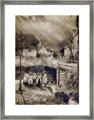 Vintage Country Scene Framed Print by Esoterica Art Agency