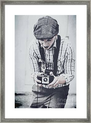 Vintage Creativity In Process Framed Print